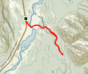 Siffleur Falls Map