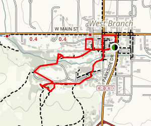 Herbert Hoover Interpretative Trail Map