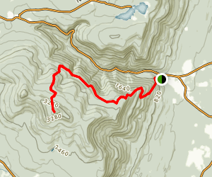 Kaaterskill High Peak via Long Path Trail Map