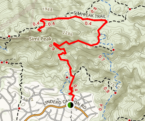 Simi Peak Trail Map