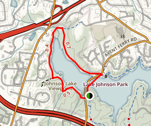 Lake Johnson West Loop Trail Map