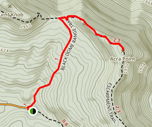 Acra Point via Black Dome Range and Escarpment Trails Map