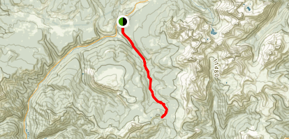 Bolam Pass via East Fork Trail Map