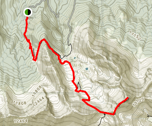 Wilson Peak Via Navajo Basin Map