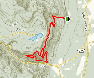 Palenville Overlook Trail Map