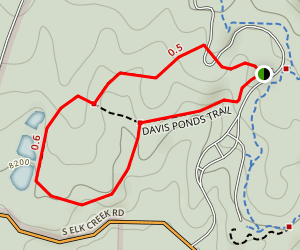 Davis Ponds Trail Map