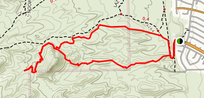 Maze-Cardiac Hill Loop Trail Map