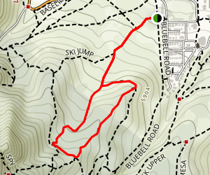Chautauqua-Bluebell-Baird Trails Map