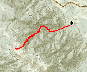Greenhorn Trail Map
