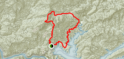 Appalachian Trail, Lost Cove, and Lakeshore Loop Map