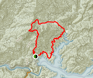 Lakeshore, Lost Cove, and Shuckstack Loop Trail Map