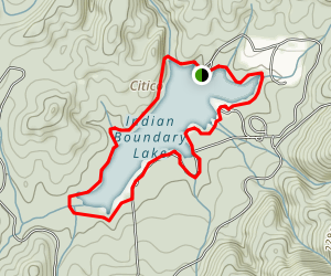 Indian Boundary Lake Trail Map