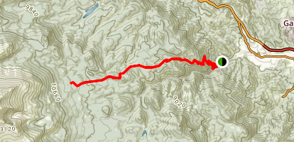 Barr Trail to Barr Camp Map