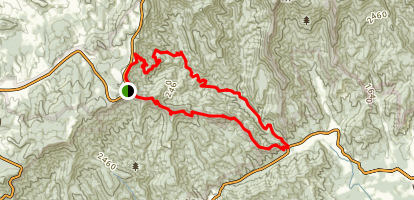 Flat Rock Ridge Trail and Grassy Gap Fire Road Loop Map