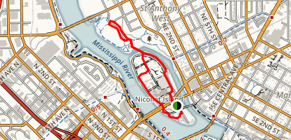 Nicollet and Boom Islands Map