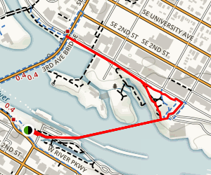 St. Anthony Falls Heritage Trail and Pillsbury Islands Map