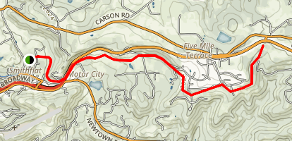 El Dorado Trail from Smithflat Map