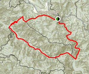 Lost Cove Creek Trail Map