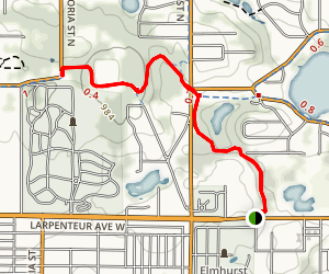 Reservoir Woods Trail Map