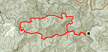 Harper Creek Trail and Raider Camp Creek Trail Loop Map