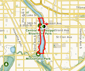 Mississippi Gorge Loop Trail Map