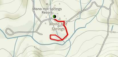 Mono Hot Springs Map