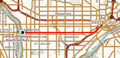 Summit Avenue Boulevard Map