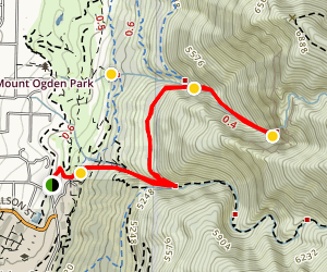 Waterfall Canyon Trail via Ogden Park Map
