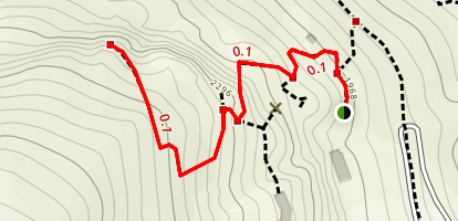 Exclamation Point Trail to Chimney Rock Map