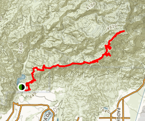 San Dimas Canyon to Sunset Peak Map
