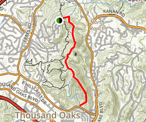 Hillcrest Ridge Trail Map