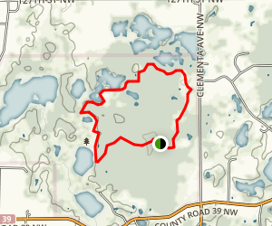 Maria Lake Loop Trail Map