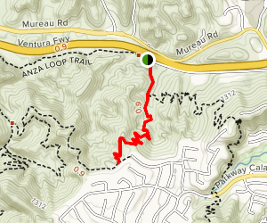 Calabasas Crest Trail Map