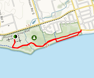 Lakefront West Park to Lakeview Park via Waterfront Trail  Map