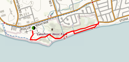 Oshawa Waterfront Trail  Map