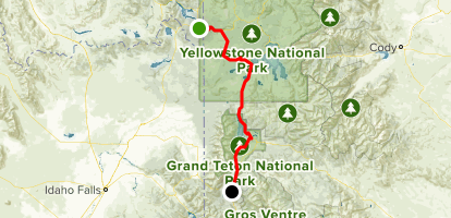 West Yellowstone To Jackson Scenic Drive Wyoming Alltrails - Yellowstone-us-map