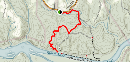 Yadkin Islands Trail Map