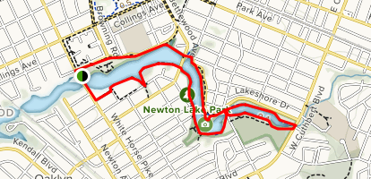 Newton Lake Trail Map