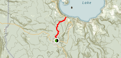 Mazama Village to Rim Village at Crater Lake Map