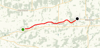 Erie Canalway Trail (Lockport to Gasport) Map