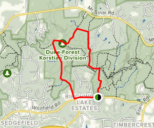 Concrete and Wooden Bridge Fire Road Loop Trail Map