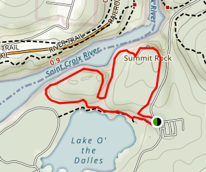Summit Rock and Echo Canyon Trails Map