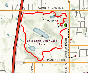 Goldenrod and Fish Lake Loop Trail Map