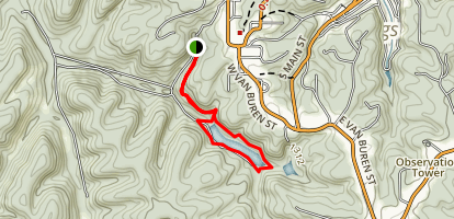 Black Bass Lake Trail Map