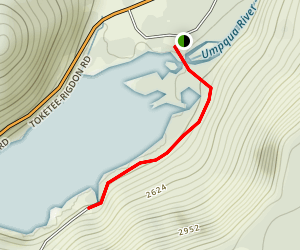 Toketee Lake Trail Map