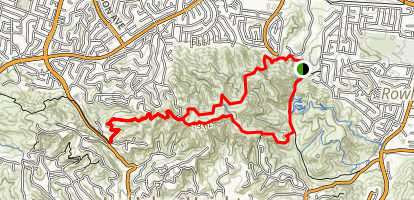 Schabarum, Purple Sage, and Powder Canyon Loop Trail Map