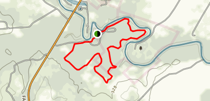 San Marcos River, Mesquite Flats, and Ottine Swamp Trails Map