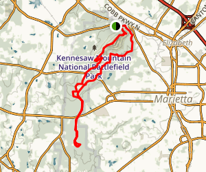 Kennesaw Mountain East and West Trail Loop Map