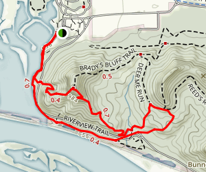 Brady's Bluff via Riverview Trail Map