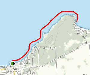 Port Austin to Point Aux Barques Via Kayak Map